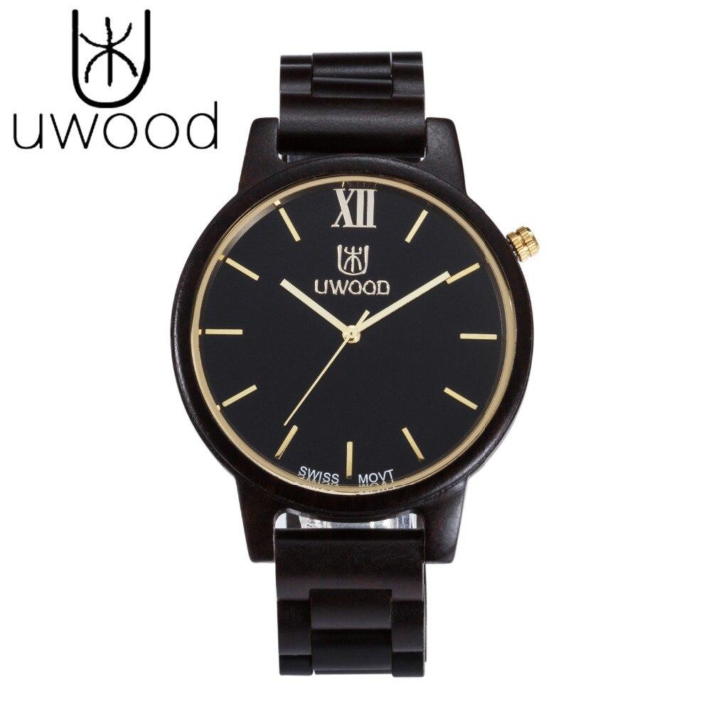 UWOOD Fashion Wooden Watches Men Japan Miyota Quartz Movement Wristwatch Men Women 100% Natural Wood Watches relogio masculino<br>