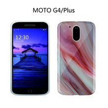 Hot Colorful Red Marble IMD TPU Shell Case For MOTO G4 Stylish Cute Unique Glossy Granite Stone For MOTOROLA G4 Plus Phone Case(China)