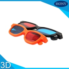 2pcs Kids Red Blue 3D Glasses Framed Vision Glasses for Game Stereo Movie Dimensional For Children School Class(China)