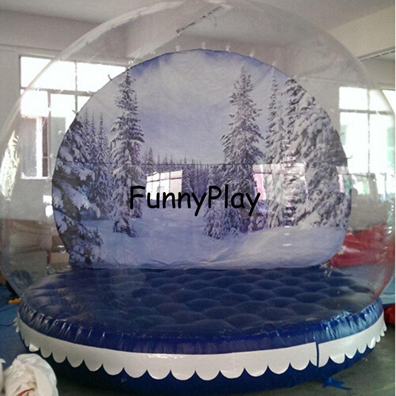 decoracin inflable de navidad bolas de plstico publicidad inflable gigante bola de nieve bola de muestra del fes