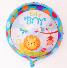 2pcs/lots 45*45cm Angel Baby boy Balloon Birthday Party Decoration Animal pet Baby Boy Balloon Helium Baloon Air Balls balao