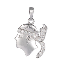 Eulonvan Beautiful 925 sterling Silver Pendants white Cubic Zirconia sumptuous S--2126 First class products Recommend Promotion