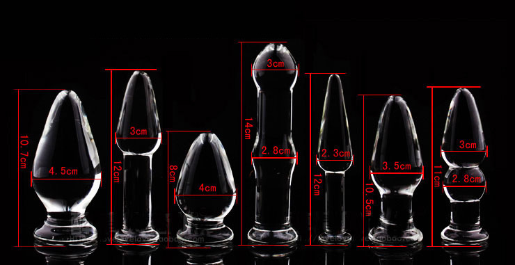 1Pc Glass Anal Butt Plugs Crystal Dildos Beads Ball Erotic Stimulator Fake Penis Female Masturbate Sex Toys for Couples 18