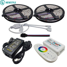 10M Flexible RGB Led Strip SMD 5050 Christmas Lights Tape Light + 2.4G Touch Panel RF Led Remote Controller+12V 6A Power Adapter(China)