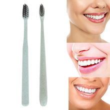 1 PC Portable Travel Toothbrush Deep Cleaning Teeth Whitening Brush Wheat Soft Bamboo Charcoal Toothbrush Oral Cleanser Tool(China)