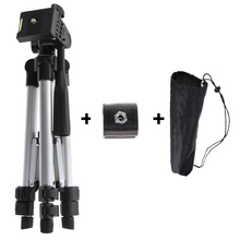 Portable Professional Camera Tripod With Flashlight Holder High Quality Universal Tripod For Camera / Mobile Phone / Tablet