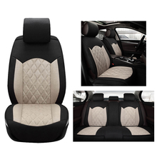 Cloth Flax Universal Car Seat Cover set for Dodge avenger Journey Ram charger durango journey dart with supports car accessories