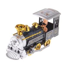Mini Alloy Pull Back Traditional Steam Train Locomotive Diecast Model Toy Collectibles Birthday Gift(China)