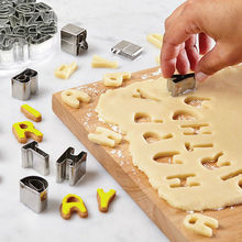 Stainless Steel Biscuit Cutters 26 Letters Shape DIY Alphabet Cookie Cutter Mold Fondant Cake Decorating Tools(China)