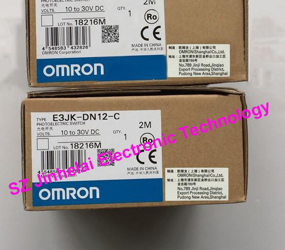 New and original OMRON  PHOTOELECTRIC SWITCH SENSOR E3JK-DN12-C  2M 10-30VDC<br>