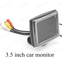 auto monitor 3.5 inch resolution TFT LCD vehicle digital color car monitor small display for reversing parking backup camera