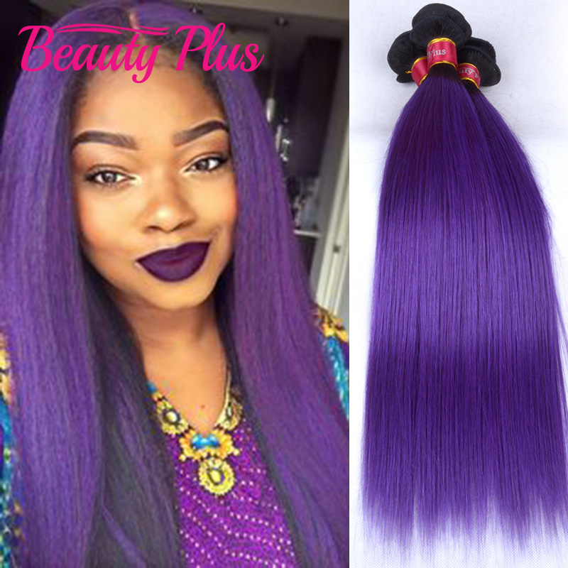 7A purple ombre brazilian hair 3 bundles straight human hair brazilian virgin hair straight violet brazilian straight hair weave<br><br>Aliexpress