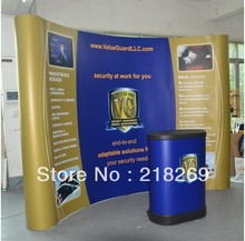 8X8ft High Quality!!! Magnetic Pop up Stand Banner with plastic trolley case table (free printing!!)