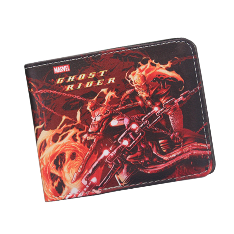 Steampunk Cartoon Skull Knight Wallet Bifold Ghost Rider Wallet Slim Leather Purse Bag Credit Card Holder Movies Wallet For Fans<br><br>Aliexpress