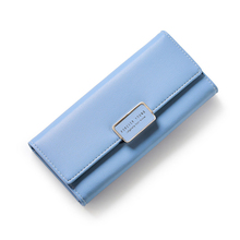 Fashion Elegant Women Long Leather Wallet Portable Multifunction Solid Color Purse Hot Female Change Purse Lady Clutch Carteras