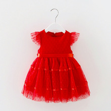 Sleeveless Summer Cute Girl Lace Dress Kids Wedding Princess Party Dress Infantil Next Children Baby Bubble Toddler(China)