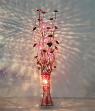 Beautiful Vase floor lamp Brief fashion house lighting handmade aluminum wire floor light Red,gold,purple,silver,black led Lamp(China)