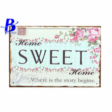Custom Neon Sign SWEET  Vintage Tin Signs Retro Metal Plate Painting Wall Decoration Decorative Metal Plate Metal Car Signs