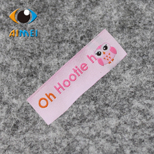 Free Shipping Customized Golden Font/Logo/Writting clothing/dress/bag/shoes woven labels/ main labels JP005(China)