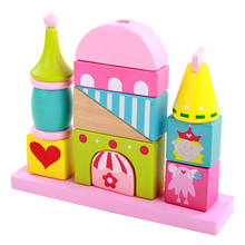 MamimamiHome Baby Toys Childhood Teaching Aids Robot Garden Princess Building Blocks Layer Stack Montessori Toys Building Blocks(China)