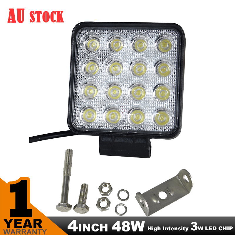 AU STOCK 4INCH 48W LED FLOOD WORK LIGHT BAR LAMP PHILIPS LUMILEDS OFFROAD TRACTOR TRUCK 4WD<br><br>Aliexpress