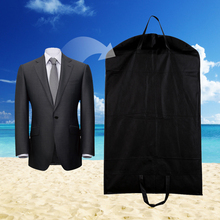 1pc Black Dustproof Hanger Coat Clothes Garment Suit Cover Storage Bags,clothes storage,almacenamiento,Case for clothes E5M1(China)