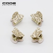 4pcs/set High Quality Cute Gold Color Marbling Concise Hair Claw For Women Girl Wedding Hair Jewelry Accessories Holiday Gift(China)