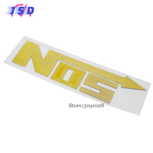 Car Decals Badge Sticker Emblem Decoration Car Body For NOS Logo Corvette Fiat500 ford Mustang Jaguar F-PACE Peugeot 308 307 408(China)