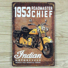 "SYF-289 Free ship"" 1953 indian motorcycle "" Retro vintage Metal tin signs  plaque Painting Home decor wall art craft  20x30cm"