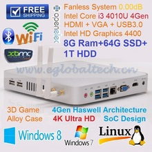 2014 Top Seller Mini Computer Intel Dual Core I3 With 8GB Ram 64GB SSD 1TB HDD Windows Linux Ubuntu XBMC DX11 Thin PC HTPC