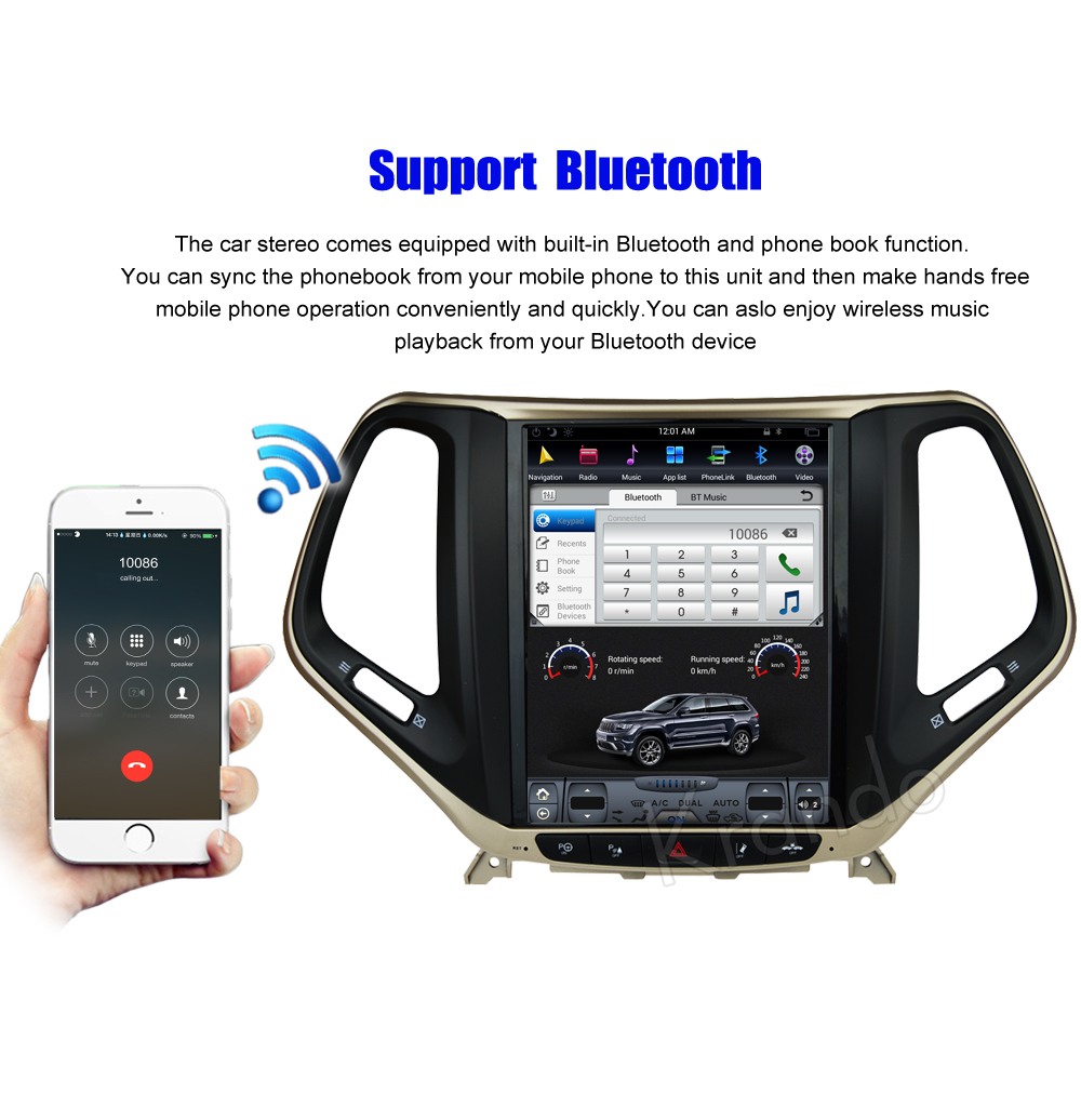 Krando Vertical screen android car radio multimedia for jeep cherokee big screen navigation with gps system (4)