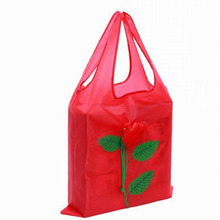 Best Selling Fashion Rose Flowers Reusable Foldable Storage Shopping Bag Travel Grocery Organization Bags Tote Drop Shipping