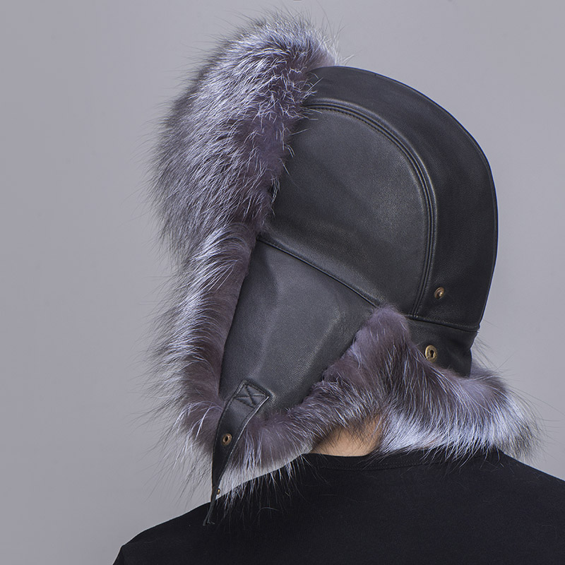 big fur hat silver fox fur 8