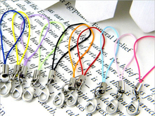 30pcs High quality Mix-Colors Mobile Cell Phone Lanyard Cords Strap Lariat With Lobster Clasp DIY  DE03863