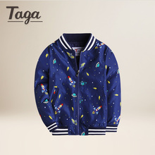 TAGA 2017 Autumn New Fashion Baby Clothes Zipper Childrens Clothing Kids Boys Coat Casual Outwear Baseball Jacket  School Sports