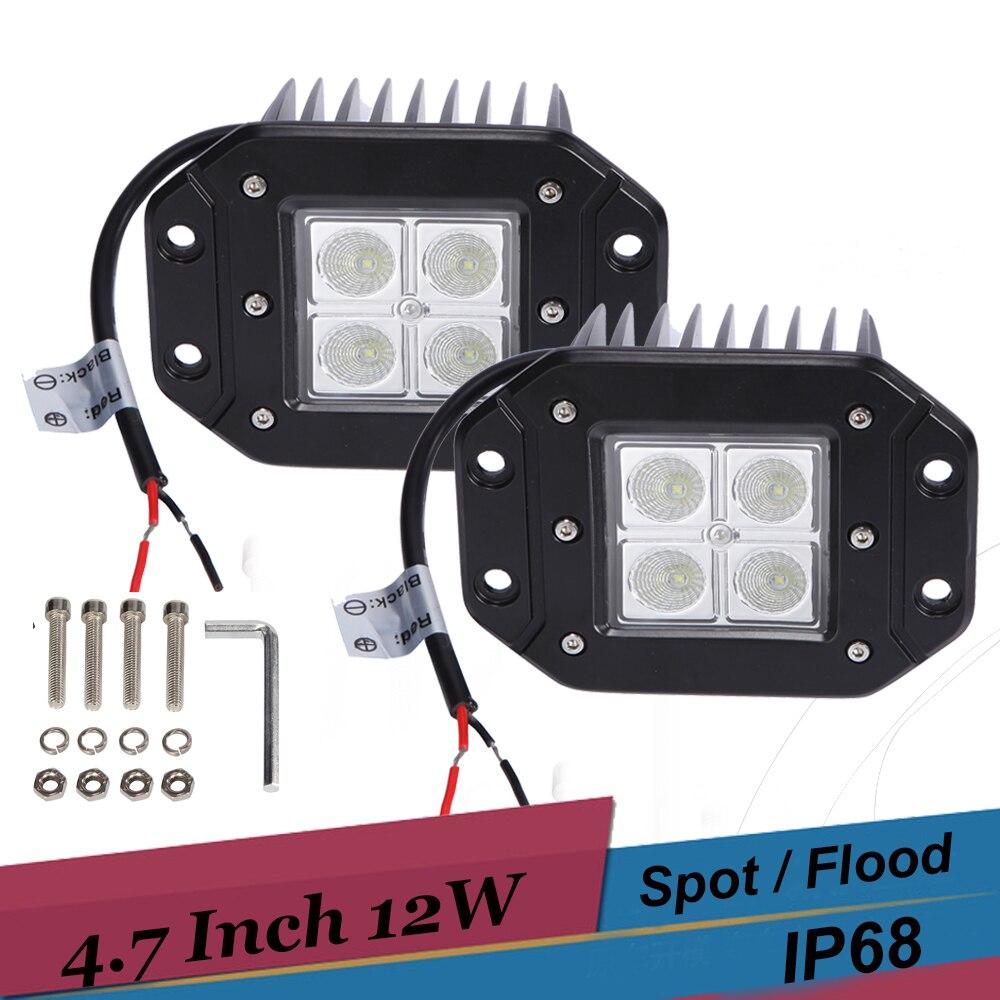 12W 1200LM Offroad LED Work Light Car Truck Pickup 4X4 SUV ATV Go kart Backup Light Bumper Driving Fog Lamp for Ford F150 Raptor<br><br>Aliexpress