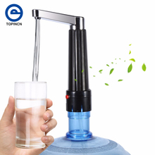 Portable Electric Drinking Water Bottle Pump And Power Adapter Transparent Hose Dispenser Suction Unit Kitchen Drinkware Tools(China)