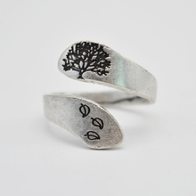10pcs Silver Tree of Life Ring Minimalist Hope Rings For Women Adjustable Wrap Ring Gift For Her RG89
