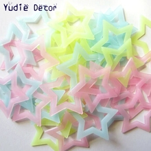 40Pcs Big 4.6cm Hollow Energy Storage Fluorescent Glow In The Dark Stars Kids Bedroom Wall Stickers Baby Rooms Home Decoration