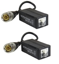 STARAUDIO 1CH Black HD Passive Video Balun Analog AHD, HD-CVI, HD-TVI, Push-In Terminal SHD-213B