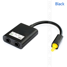 brand Cheap sale Portable 1PC Digital Toslink Optical Fiber Audio 1 to 2 Female Splitter Adapter black white(China)