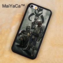 MaiYaCa Star Wars jango fett and boba fett Soft Rubber Mobile Phone Cases For iPhone 5 5S Back Cover For iphone SE Shell Cover(China)