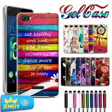 Hot Sell UV Printed Cartoon TPU Gel Case For Wiko Fever 4G Back Cover Case Soft Silicone For Wiko Fever 3G Slim Cover Case Bag(China)