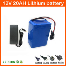 Rechargeable 12V 20Ah Lithium Battery Pack 200W 3S 12.6V 20AH for street light / CCTV Camera / LED Power 12.6V 3A charger(China)