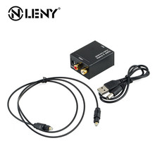 ONLENY Digital Optical Coaxial Toslink Signal to Analog Audio Converter Adapter RCA Digital To Analog Audio Converter Black