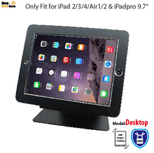 security desktop stand for iPad 2 3 4 air1 2 Pro 9.7 tablet with lock holder display rack bracket mounting on table anti-theft(China)