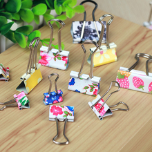 WESON 6Pics/Lot Mini Cute Kawaii Metal Photo Holder Paper Clips Office Accessories Clip Binder Paperclip Clamps