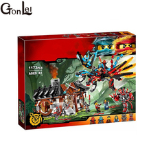 (GonLeI) 1173pcs Ninja New 10584 Dragon's Forge DIY Model Building Kit Blocks Gifts Toys Compatible with