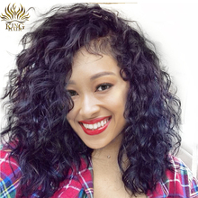 [King Hair] Full Lace Human Hair Wigs Brazilian Natural Wave Hair Wigs 100% Remy Hair 12-24inch Natural Hairline(China)