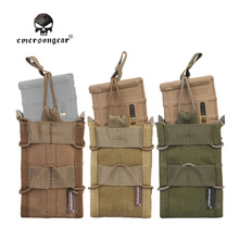 EMERSON Single Unit Magazine Pouch military army Utility MOLLE Vertical Accessories EM6345B khaki brown black